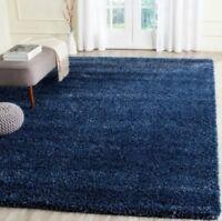 Denim Blue Shag Area Rug Rugs 4' x 6' 8' 10' 9' 12' 10' 13' 8 10 4 6 5 8 7 11 15