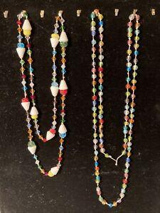 ICE CREAM CONES Handmade Lampwork Glass Beads Necklaces Bicone FREE SHIP
