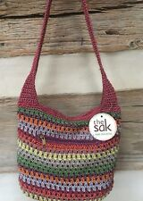 THE SAK Hand-Crocheted Shoulder Bag RIVIERA BOHEMIAN STRIPES 107705  New!