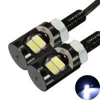 10 x White LED Universal Motorcycle Car License Plate Screw Bolt Light Lamp Bulb