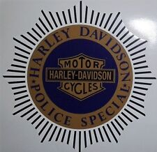 Harley Knucklehead Flathead Police Special vintage sticker decal