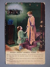 R&L Postcard: Bamforth Song Card, When Dady Comes Home No.3, Circa WW1