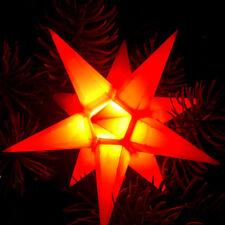 LED Mini-Stern orange 11cm Adventsstern Weihnachtsstern Stern innen Leuchtstern