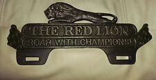 Original Gilmore The Red Lion Roar Champion License Plate Topper Heavy
