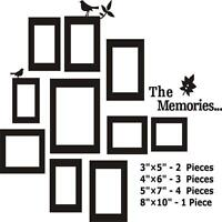 DIY 10 Picture Photo Frame Wall Sticker Vinyl Art Decal Decor For Bedroom Homes