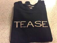 $78 Victorias Secret Soft Cashmere Sweater Crew Neck TEASE Long Sleeve Medium