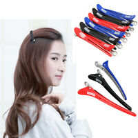 12Pcs Hairdressing Aluminum Plastic Clips Salon Barber Section Hair Clip Beauty