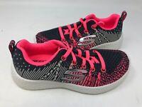 NEW! Skechers Youth Girl's BURST ELLIPSE Lace Up Shoes Char/Pnk #81908L* 173O z