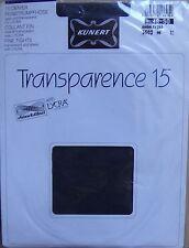 § vintage, collant neuf KUNERT TRANSPARENCE 15 chinchillan lycra gris 48-50