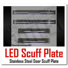 15-17 Ford F-150 Crew Cab LED Light Stainless Door Sill Scuff Plate Guard 4pcs