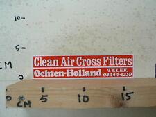 STICKER,DECAL CLEAN AIR CROSS FILTERS OCHTEN-HOLLAND