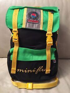 Zaino Invicta Mini Fluo Vintage Usato! Anni 90 Verde Fluo Multicolore