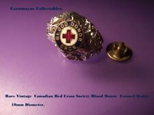 Rare Vintage Canadian Red Cross  Society Blood Donor Enamel Badge AH9995.