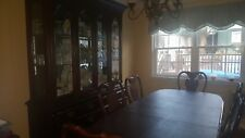 Dining Room Set - China Cabinet/Table With 6 Chairs - Cherry Wood
