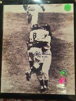 New York Yankees DON LARSON SIGNED PERFECT GAME 8X10 PHOTO Yogi Berra