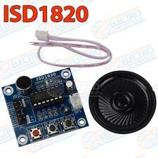 ISD1820 - Modulo grabador y reproductor de voz con altavoz 3,3v - Arduino Electr