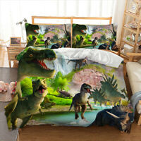 Dinosaur Duvet Cover Set For Comforter Twin Queen King Size Bedding Set Green US