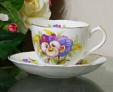 DUCHES BONE CHINA Tea Coffee FOOTED CUP AND SAUCER AMELIA  PATTERN