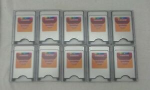 Lot of 10 Transcend CompactFlash Adapter P/N: 760557784647