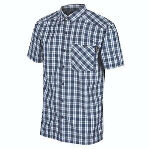 Herren Wanderhemd Regatta Mindano  Funktionshemd kurzarm Hemd Outdoorhemd  Blau