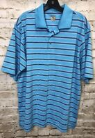 Lone Cypress By Pebble Beach Polo Golf Shirt Mens XL X Large Short Sleeve Blue