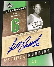 BILL RUSSELL 06-07 Upper Deck UD Chronology RETIRED NUMBERS AUTO AUTOGRAPH #2/6!