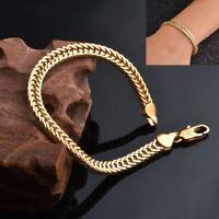 6mm Frau Bezaubern Schmuck 18K Gold überzogenes Armband Schweißband Armreif