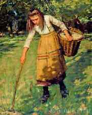 Gathering Wood by Henry La Thangue - Country Girl  8x10 Print Picture 1538