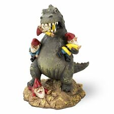 Decorative Gnome Statue Funny Dinosaur Garden Outdoor Lawn Figurine 9 Inch Decor