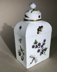 Meissen c1740s Tea Caddy Ex Winifred Williams. Antique German 18thC Porcelain