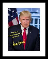 Personalized Donald Trump 8x10 Signed Photo Official Print Autographed Your Name