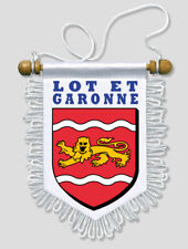 FANION VOITURE 13 X 15 CM LOT ET GARONNE (47)