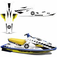 Decal Graphic Kit Yamaha Jet Ski Wrap Jetski Parts Wave 700/1100 Raider 94-96 WK