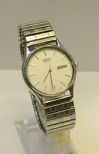 Men's Seiko Quartz Silver Tone Day/Date Expansion Watch