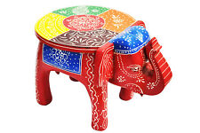 Designer Wooden 8 inch Elephant shape Stool Handicraft coffee side table