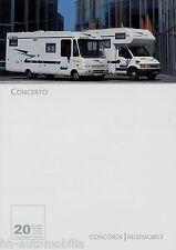 Prospekt Concorde Concerto 9/03 Reisemobil Wohnmobil 2003 motorhome Broschüre