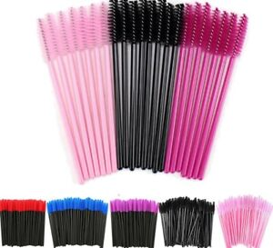 100 x Disposable Eyelash Brushes Mascara Wands Eyebrow Spoolie Applicator| FAST