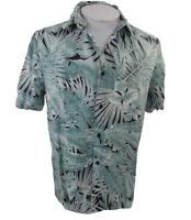 H&M Coachella Men Hawaiian camp shirt M pit to pit 22 aloha luau tropical floral