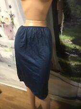 Vintage French Maid  Half Slip  Blue Size S