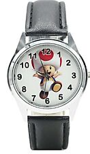 Super Mario Toad Character Leather Band Wrist Watch