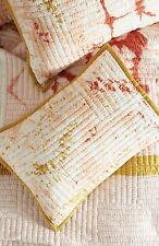 NEW Anthropologie white coral gold Dyed Patchwork Quilted Standard Sham (1 sham)