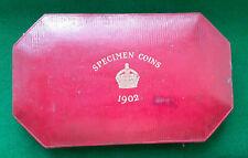 More details for edward vii 1902 royal mint official case ( long including gold ) proof set  vgc