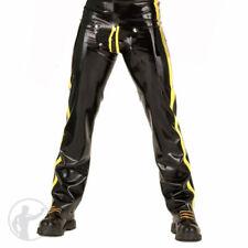 100% Latex Rubber Men Yellow and Black trousers unique Gummi Pants size S-XXL