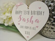 Personalised Sign Best Friend Plaque Heart Any Birthday Alternative card Gift