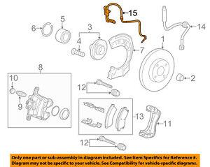 Chevrolet GM OEM 12-18 Sonic ABS Anti-lock Brakes-Front Speed Sensor 94544448