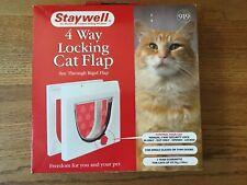 Staywell 4 Way Locking Cat Flap Door Pet Magnetic Closure Small animals