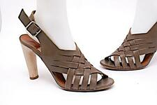 LANVIN Ete' 2009 Olive Brown Woven Sandals 39 US9 in box WOW $640