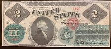 Reproduction $2 Bill United States Note 1862 Hamilton Currency Copy
