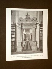 Rara veduta di fine '800 Cesena Biblioteca Malatestiana Porta della Sala Pio VII