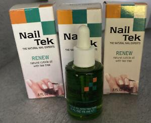 (3) NailTek Renew Natural Cuticle Oil With Tea Tree .5oz